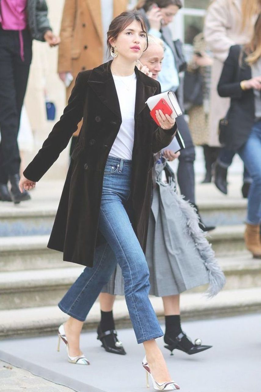French Girl Jeans Outfits  Model and Rouje founder Jeanne Damas in Paris