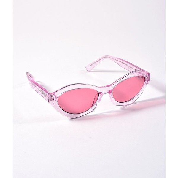 aa800e2f436 Quay Clear Pink As If Cat Eye Sunglasses ( 65) ❤ liked on Polyvore  featuring accessories