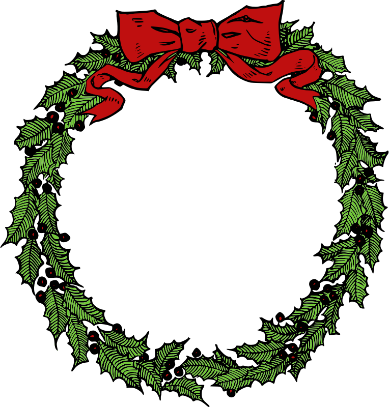 christmas wreath clipart clipart kid merry christmas pinterest rh pinterest com free clipart christmas wreath clipart christmas wreaths free
