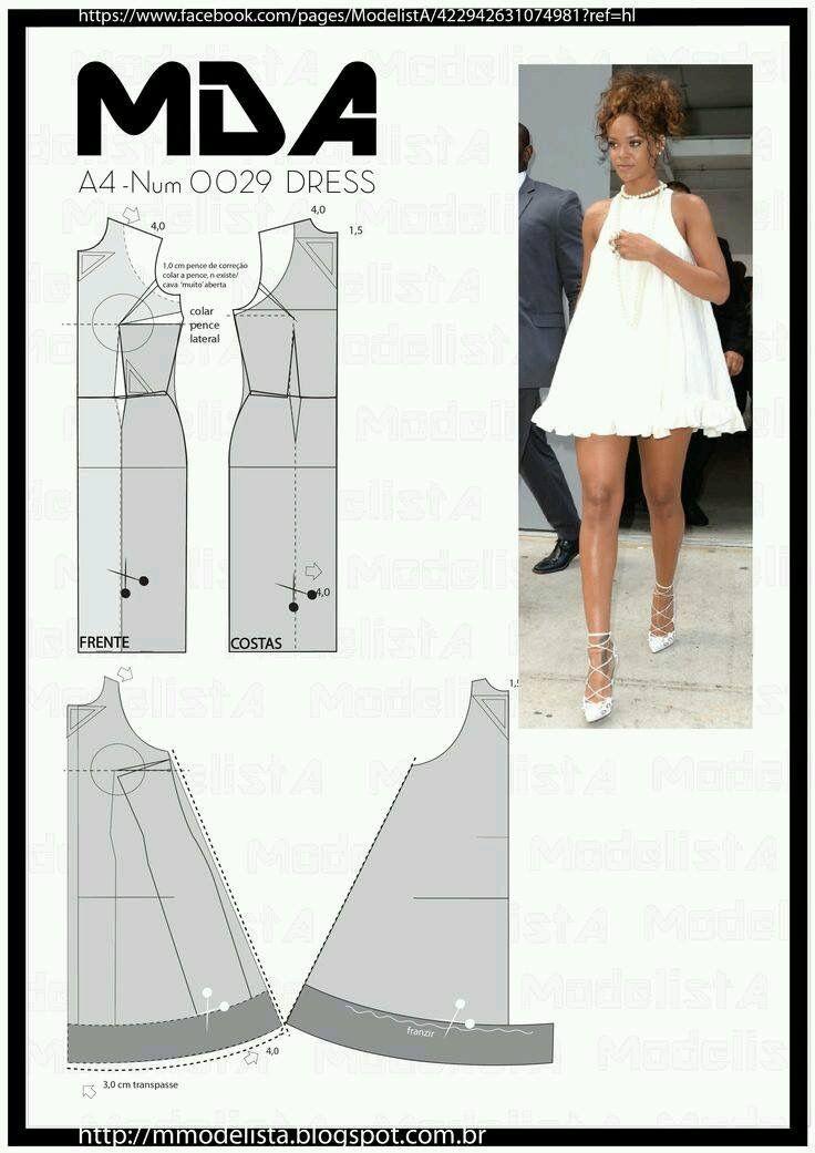 Pin de Claudia Rojas en Patrones de costura | Costura, Vestido ...