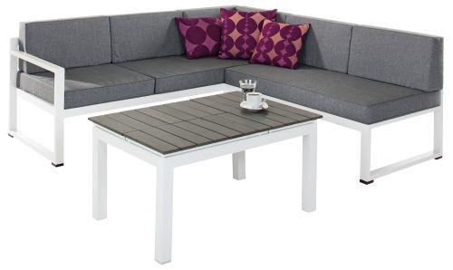 Loungeset Gartenmöbel 3-teilig bestehend aus 2- und 3-Sitzer Bank ...