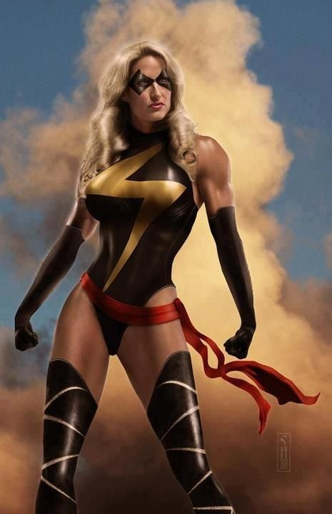 Sexy Super Heroine Art