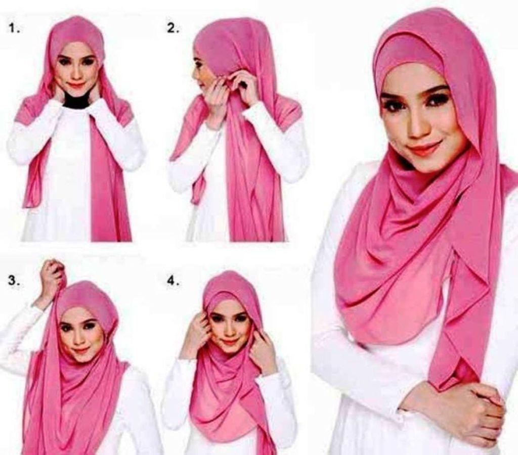 Tutorial Cara Memakai Hijab Pasmina Simple Dan Elegan Tutorial
