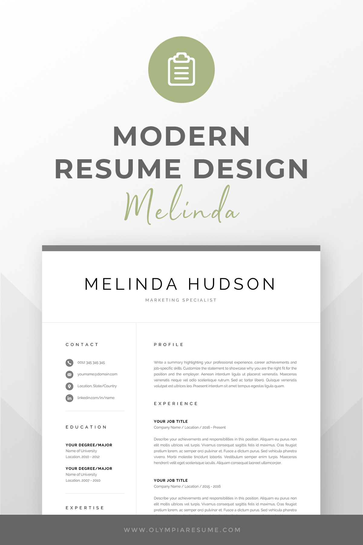 Modern Resume Template For Word Mac Pages Professional 1 Etsy In 2021 Modern Resume Template Resume Template Resume Template Professional