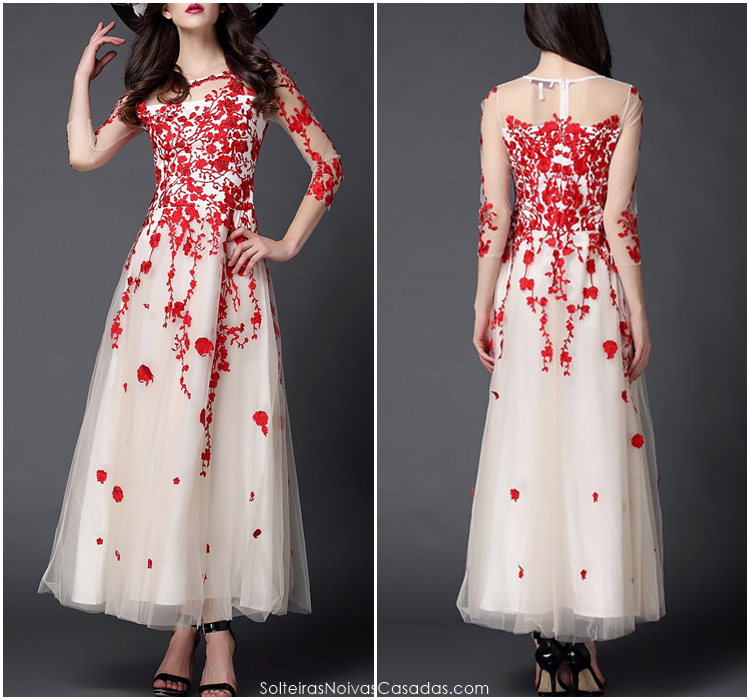 Solteiras Noivas Casadas: 5 vestidos bordados para festa