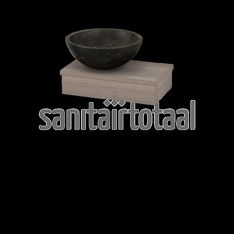 Landelijk toiletmeubel, hout, steigerhout, natuursteen, modern, fonteintje, f # Wasbak Handdoek_055134
