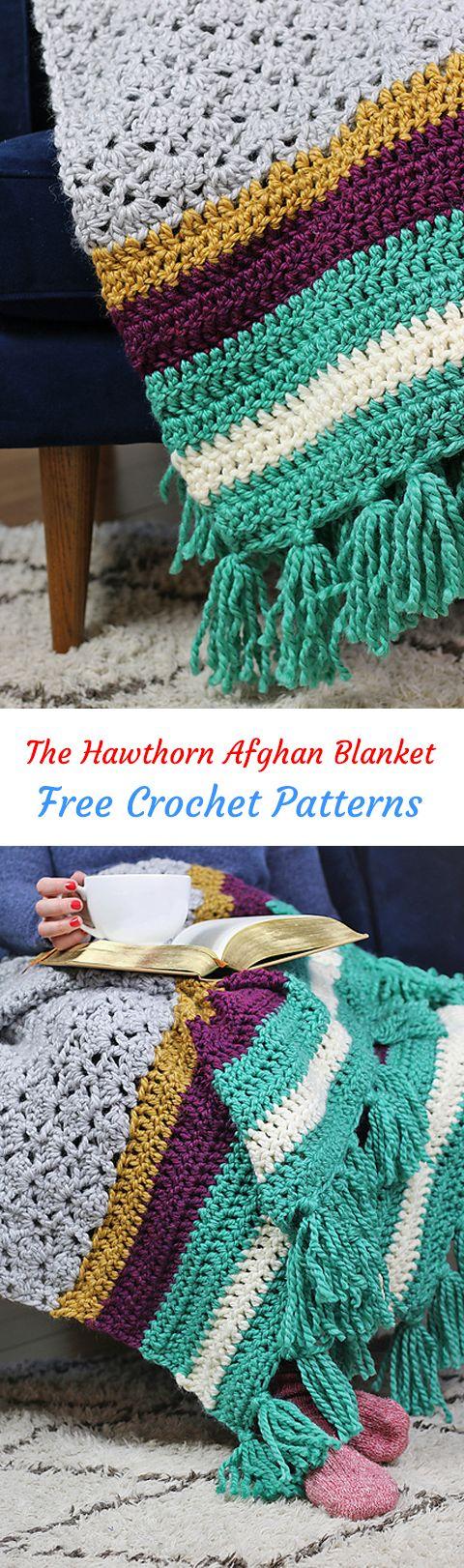 The Hawthorn Afghan Blanket Free Crochet Pattern #crochet #crafts ...
