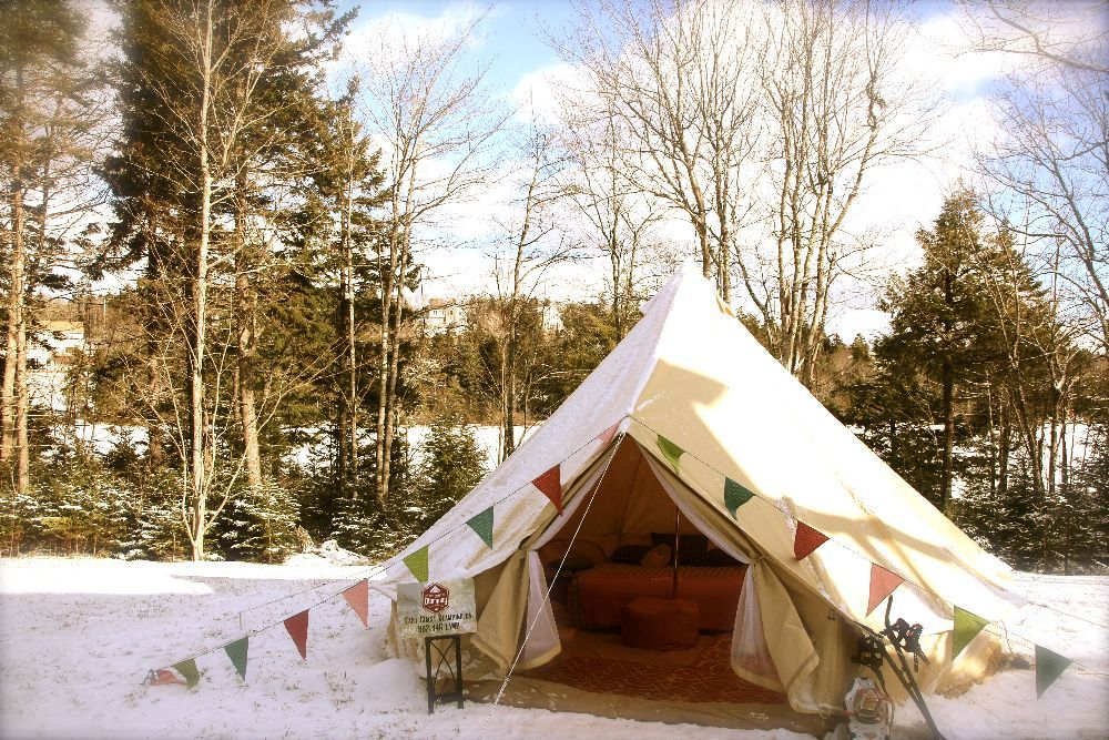 Our 5M Pro + Edition canvas bell tent takes to snow and warms us up after & Our 5M Pro + Edition canvas bell tent takes to snow and warms us ...