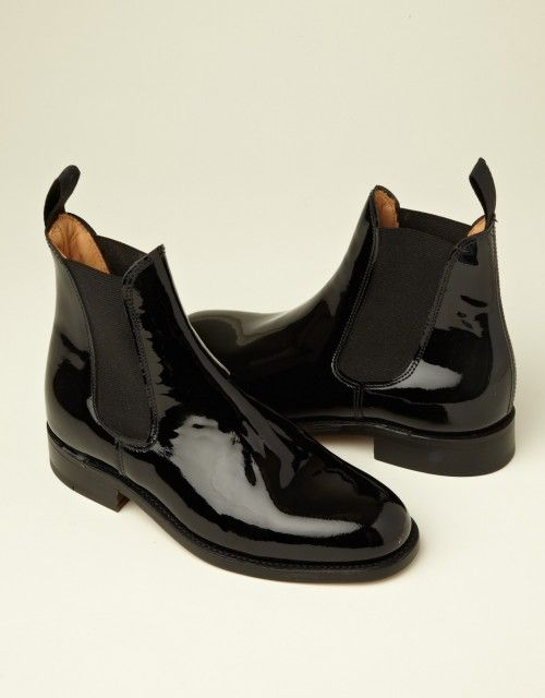 Ladies Patent Chelsea Boot You Must Create Ymc Boots Chelsea Boots Black Chelsea Boots