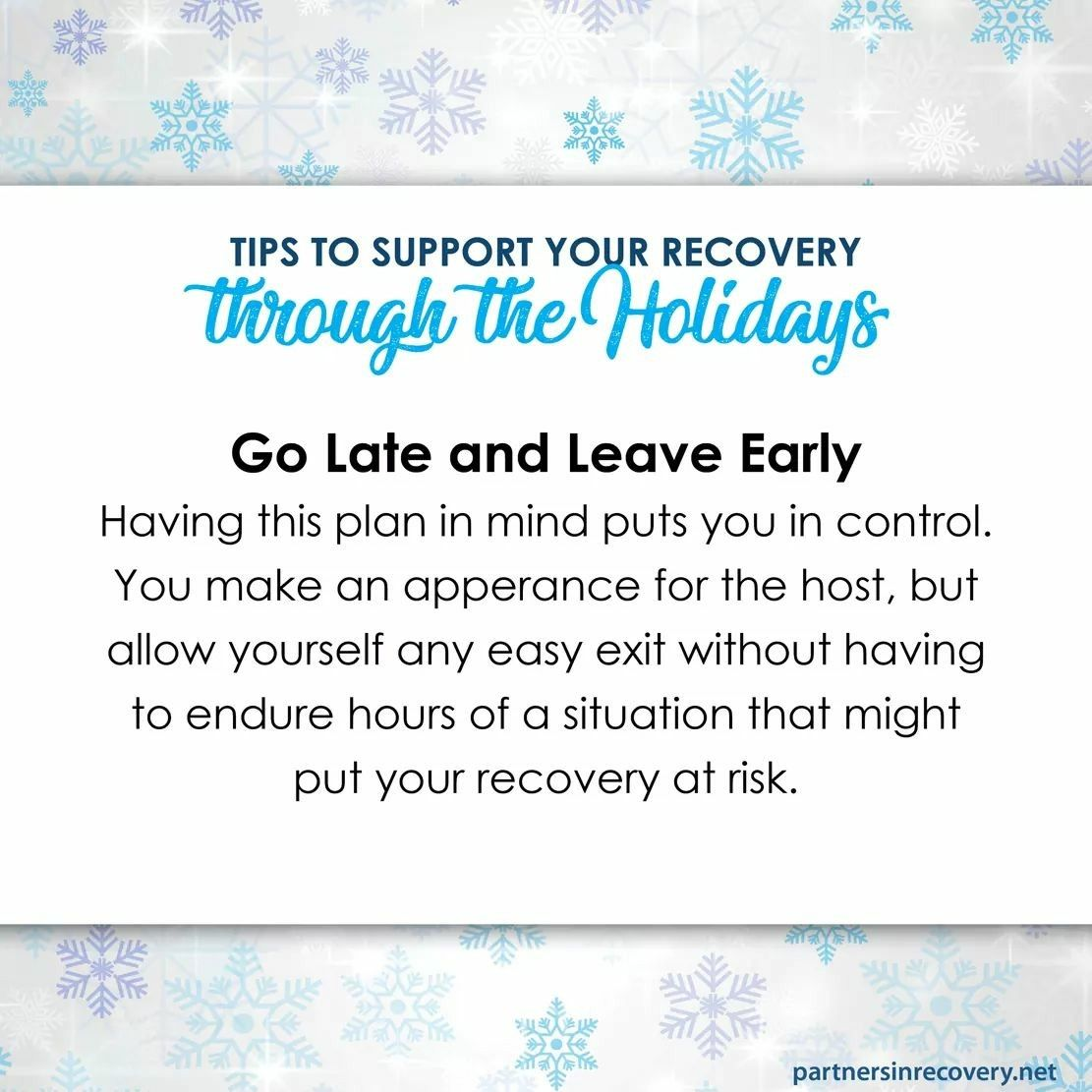 Tips for recovery during the holidays. Www