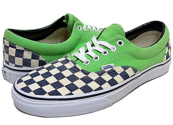 e1cde4a53013 VANS ERA Van Doren  CHECKER GREEN FLASH  (0QFK7SI)