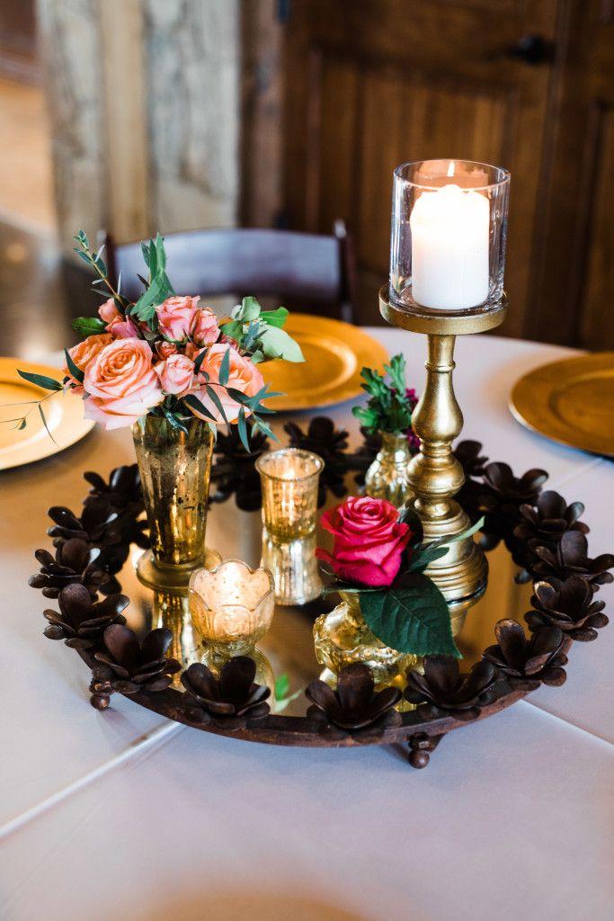Lodge Wedding Venue In Denton Texas Pinterest Gold Candles