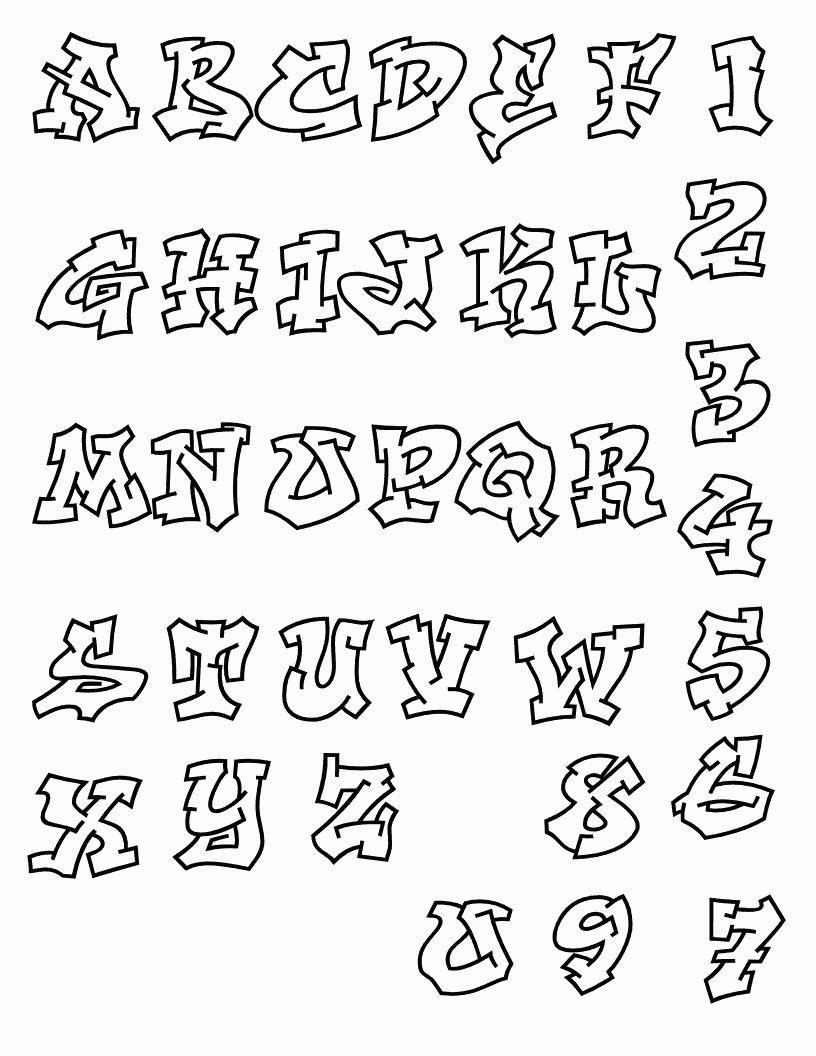 Graffiti Fancy Script Alphabet Letters Calligraphy Journal