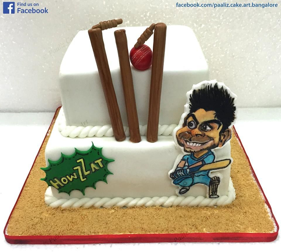 Clean Bowled Virat Kohli. Cake Crafted by Paaliz Cake Art