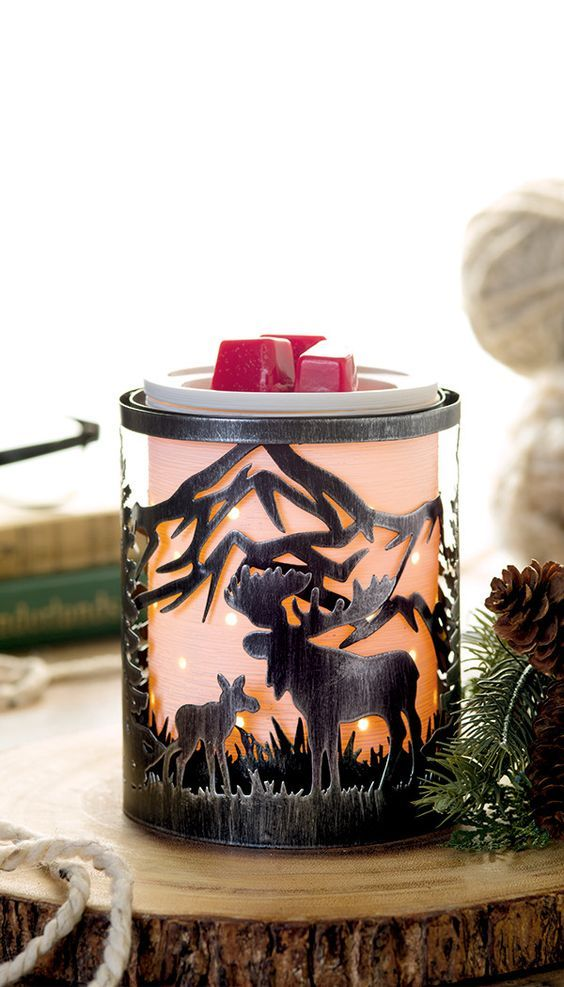 Scentsy Rustic Moose Valley Warmer Wrap Wickless Safe