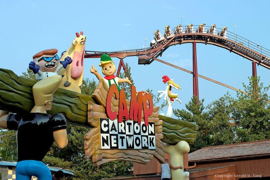 Six Flags Camp Cartoon 601924 Tangsphoto Stock Great America Six Flags Gurnee Illinois