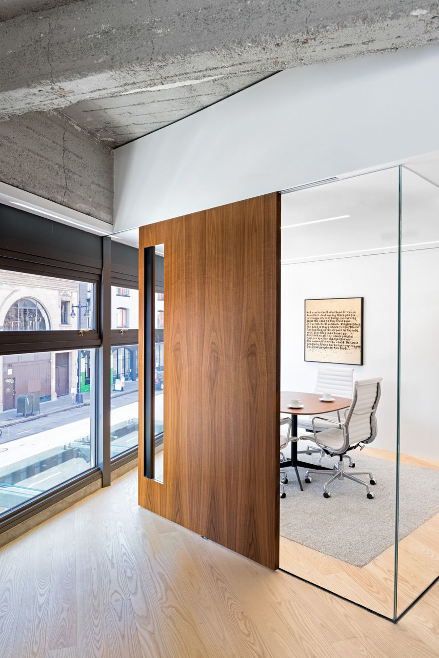 Office apartment hybrid by studio o a for Office front door design
