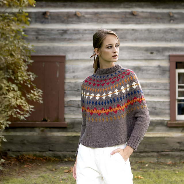 Ravelry Leslieville Swoncho Pattern By Katherine Poole Fournier Swoncho Patons Classic Wool Knitting
