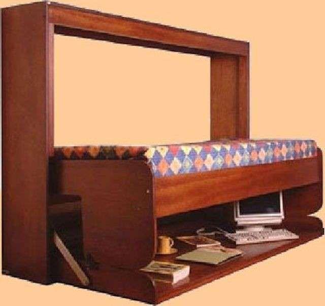 Letti singoli a scomparsa 2014 - Letto a scomparsa con scrivania