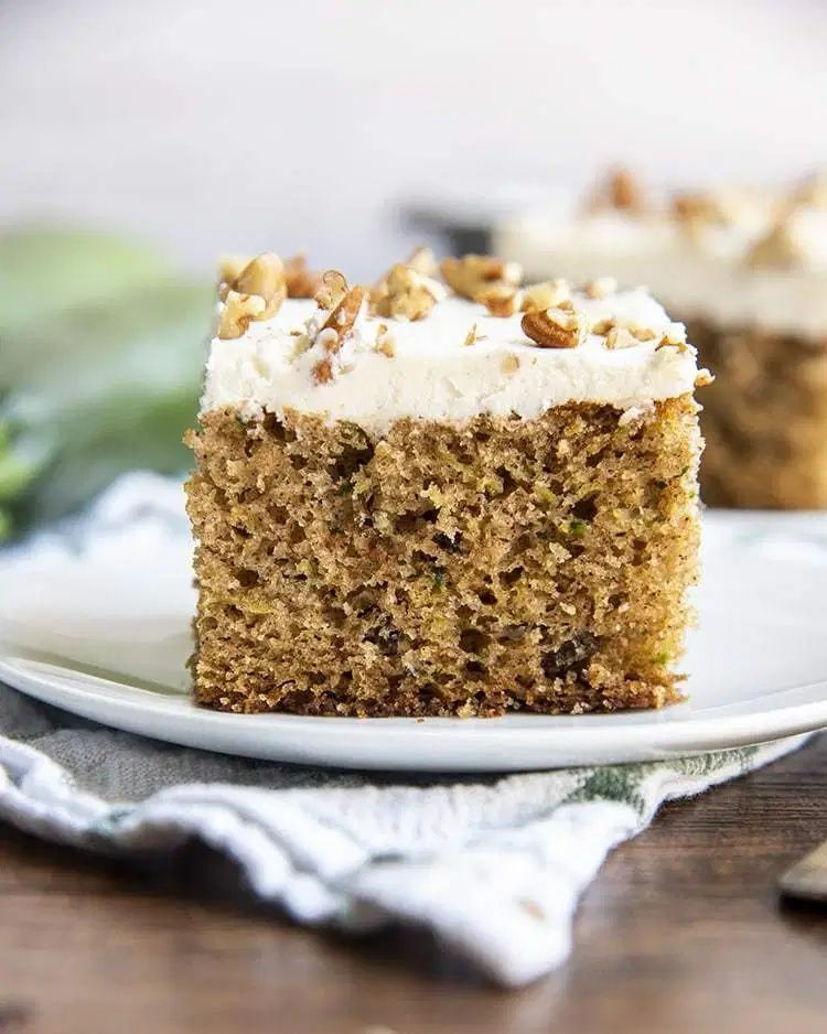 Zucchini Cake With Cream Cheese Frosting In 2020 Vegan Dessert Recipes Cake With Cream Cheese Dessert For Dinner