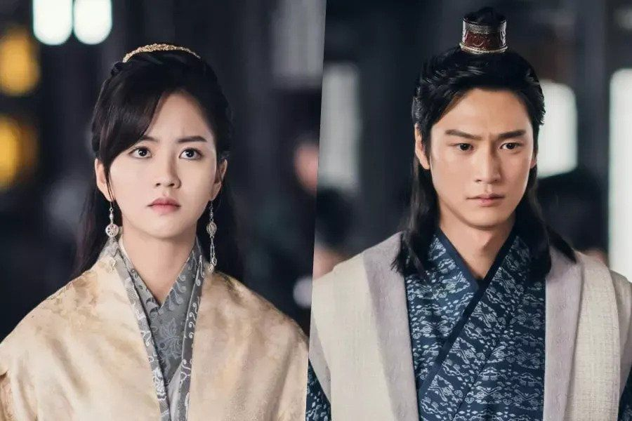 "Kim So Hyun And Na In Woo Stand Determinedly In Front Of The King In ""River Where The Moon Rises"""