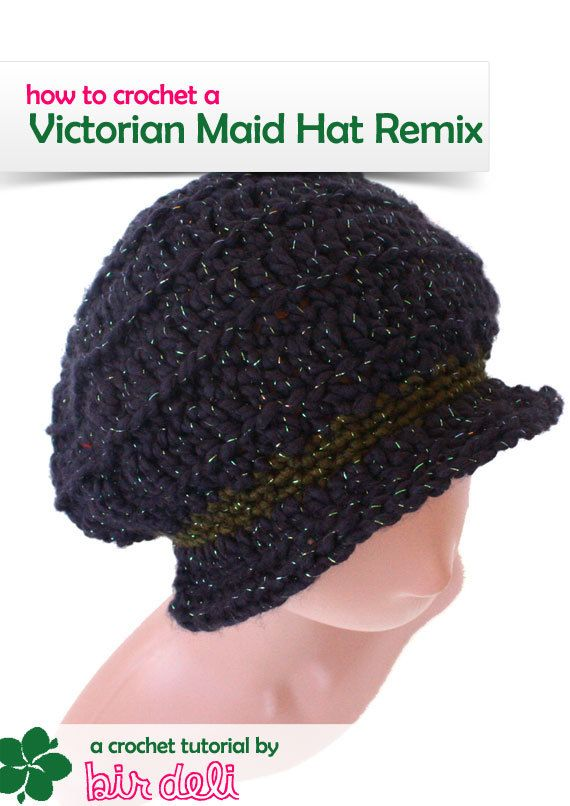 Crochet Pattern - Slouchy Victorian Maid Hat Remix - PDF | hats ...