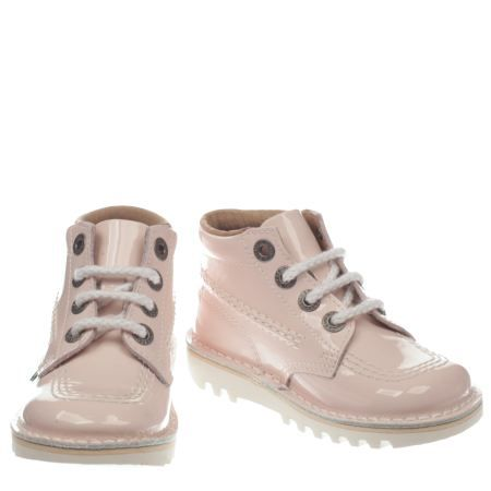 kids kickers pale pink kick hi core girls toddler