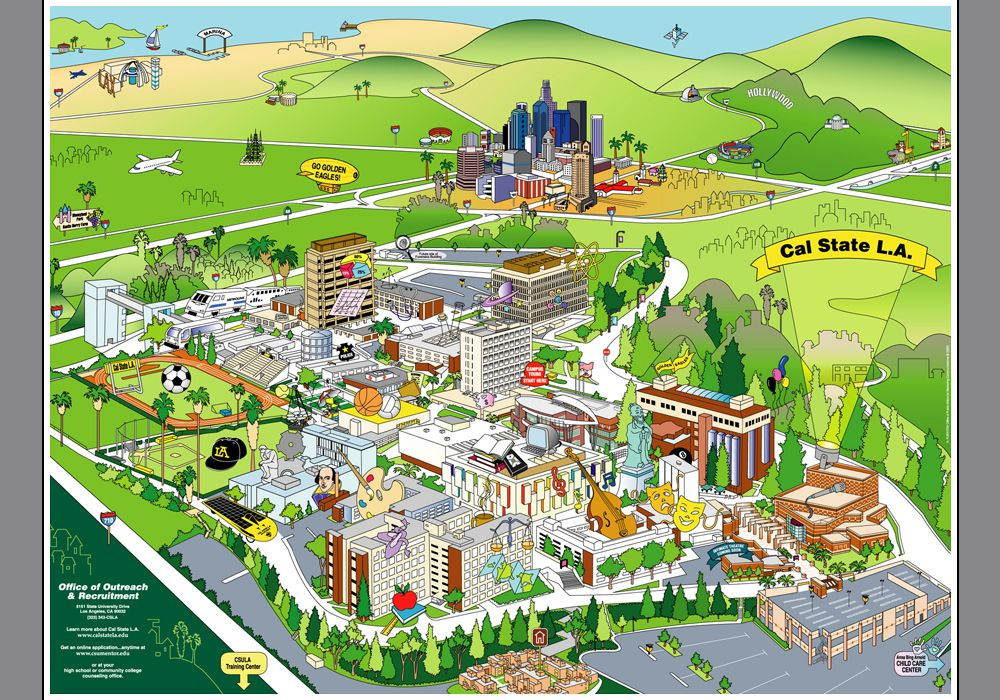 Cal State LA map - Yahoo Image Search Results | Party Animal | Cal on