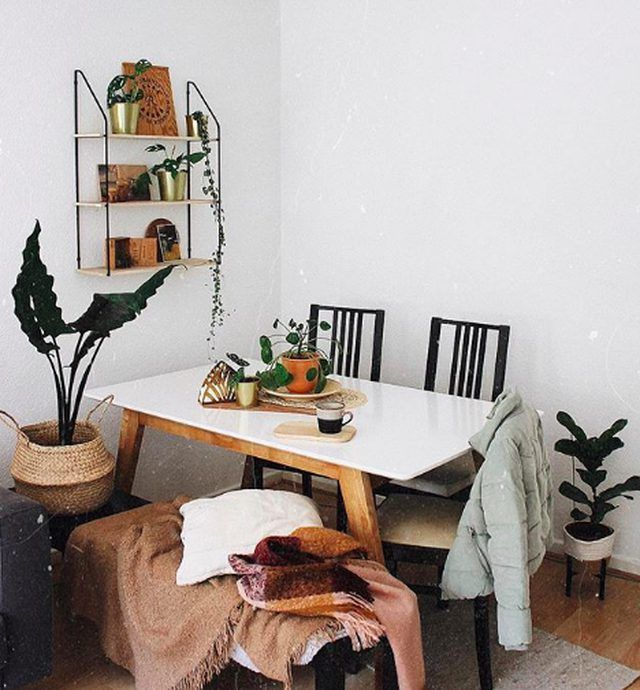 this tiny dining room is big on cozy boho style tiny dining rooms small dining area dining area on boho chic dining room kitchen dining tables id=52703