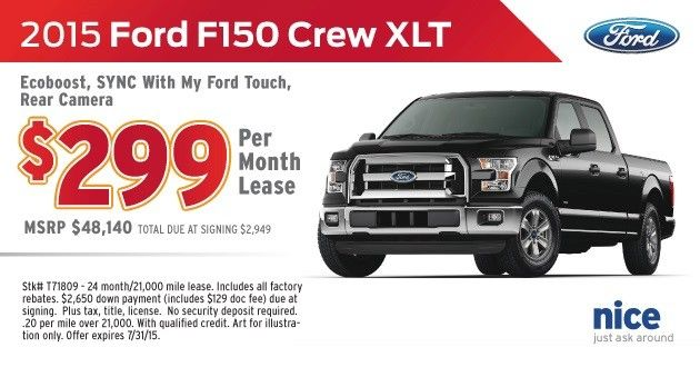 F 150 Ford Lease Special Sioux Falls July 2015 Lease Specials