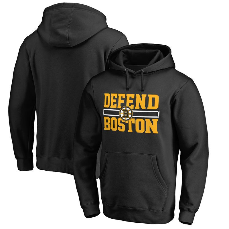 wholesale dealer ccf02 fec41 Boston Bruins Fanatics Branded Hometown Collection Defend Pullover Hoodie -  Black