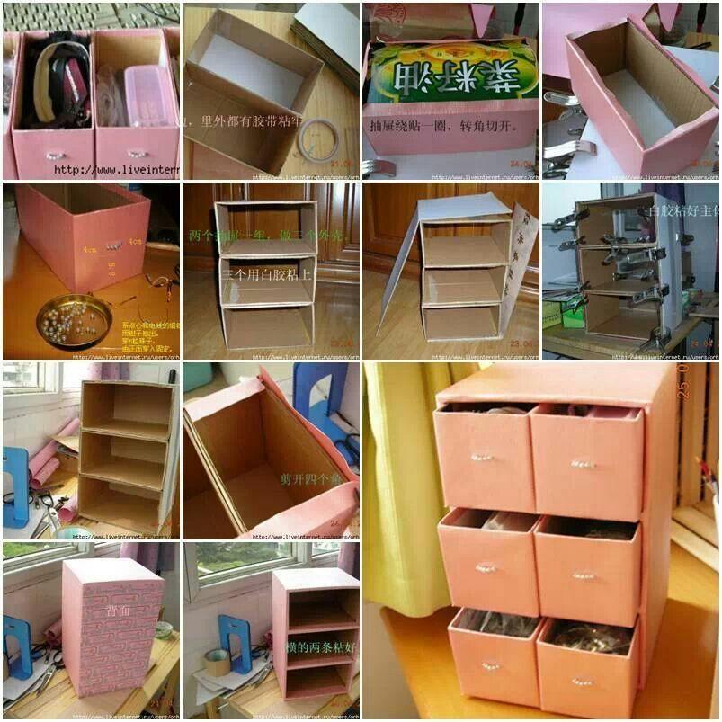 DIY ideas Storage Cardboard CraftsCardboard FurnitureCardboard