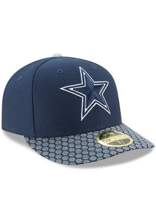 best website a73e5 5e35c Dallas Cowboys Mens Navy Blue 2017 Sideline LP 59FIFTY Fitted Hat