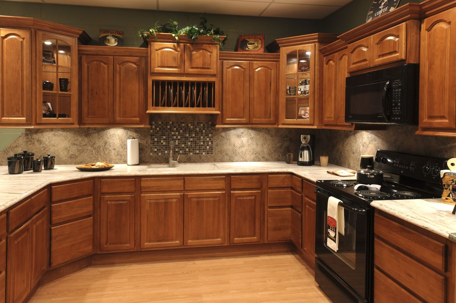 Beautiful kitchen cabinets windy hill hardwoods for Black kitchen cabinet design ideas