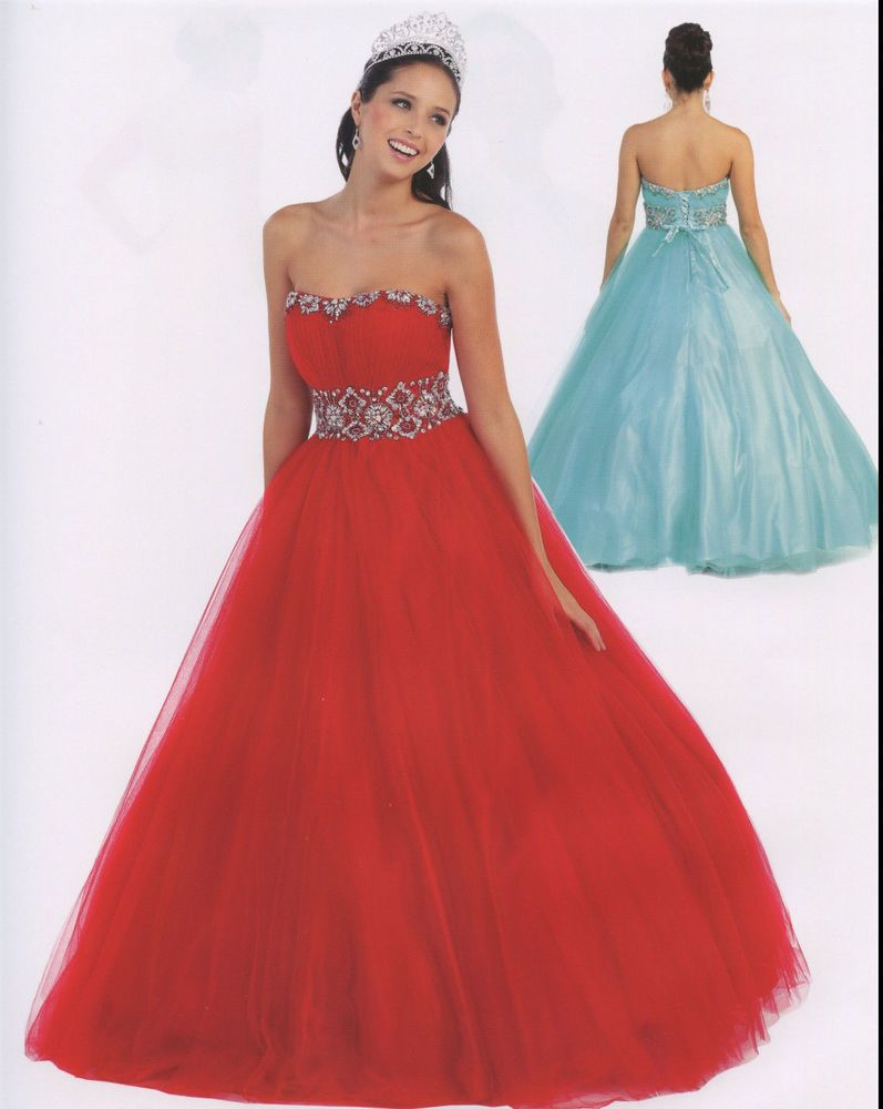 color quinceanera ball gown dress party prom evening cocktail