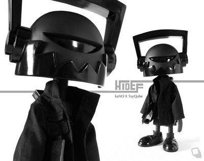 kaNO x Toy Qube New York Comic Con 2009 Exclusive Black on Black Edition Hi-Def Vinyl Figure