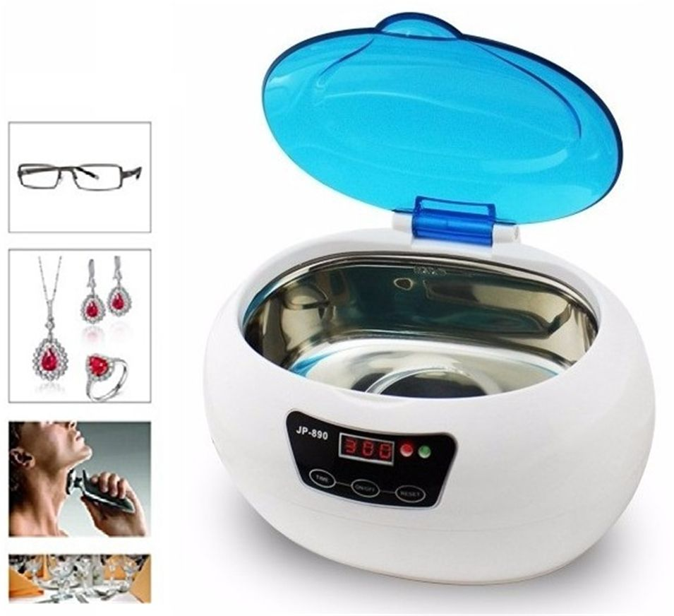 JP-890 Digital Ultrasonic Cleaner Cleaning Machine Basket Jewelry Watches Dental
