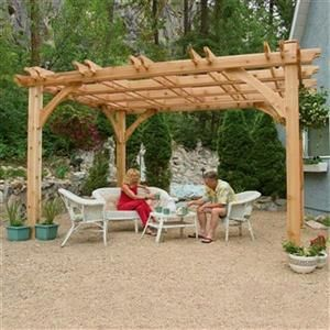 Photo of Friluftsliv i dag BZ1012 10 ft x 12 fot Cedar Breeze Pergo | Lowes Canada