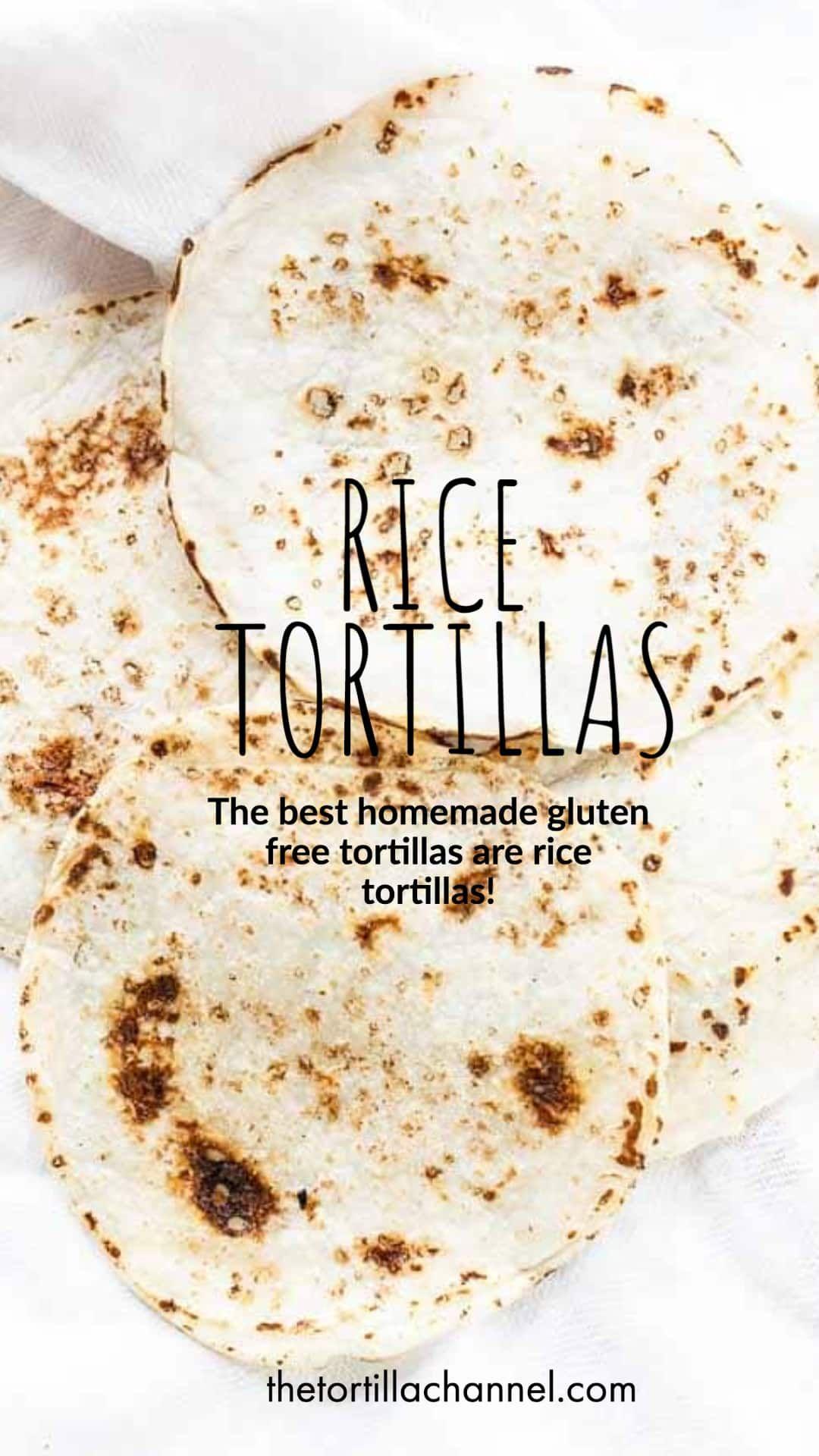 Rice Flour Tortillas Recipe in 2020 Homemade gluten