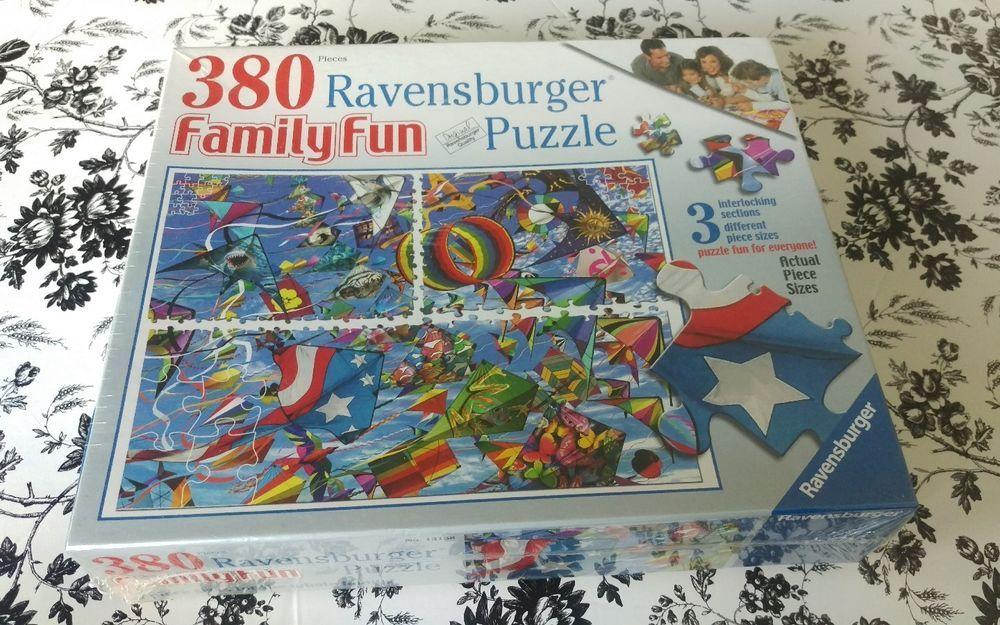 Ravensburger Jigsaw Puzzle 380 3 Different Piece Sizes Family Fun Complete Kites Ravensburger Jigsaw Puzzle Fun Fun Puzzles Family Fun