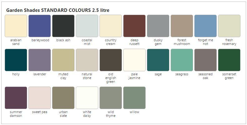 image result for cuprinol shed paint colours