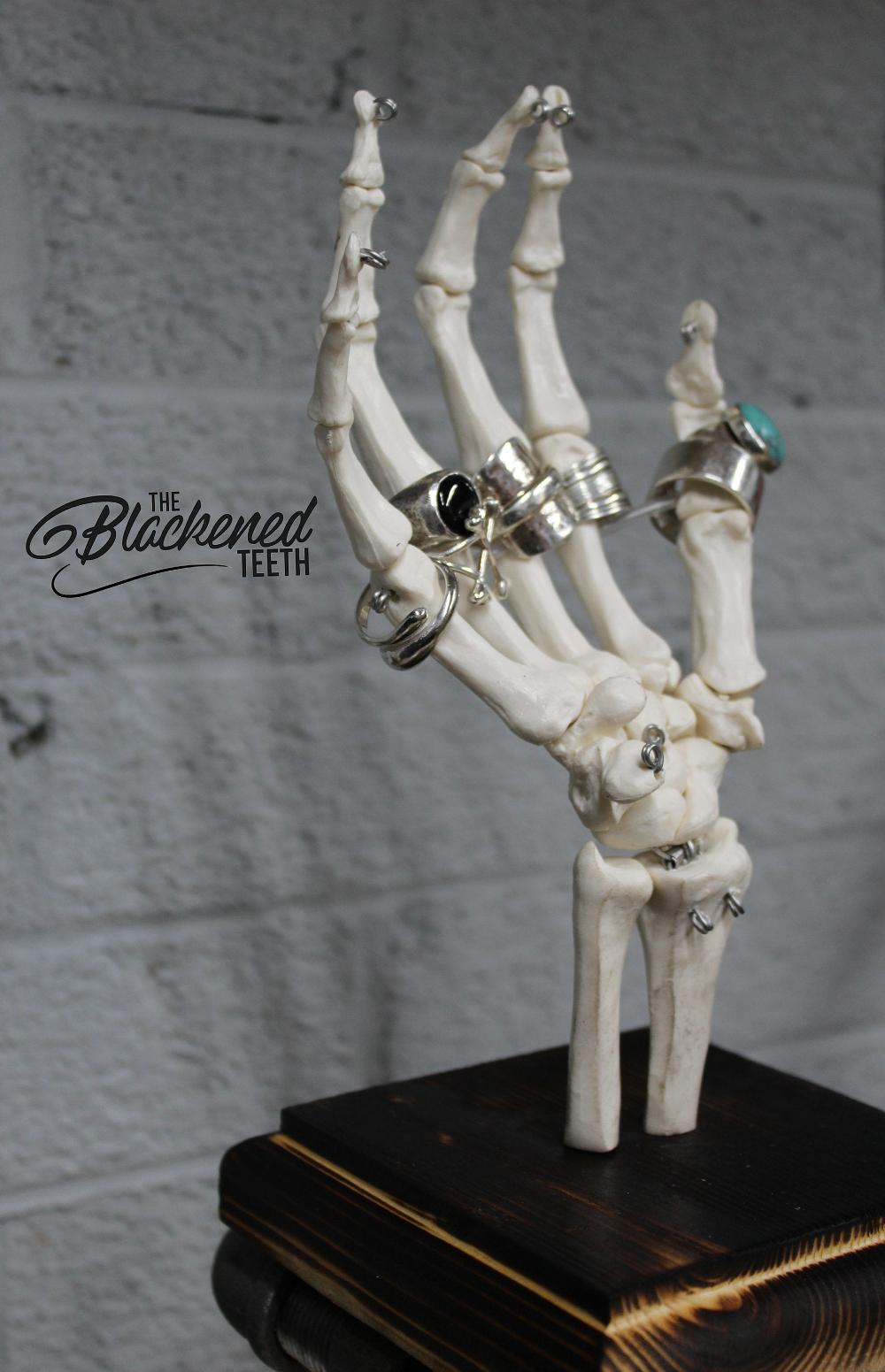 Skeleton Ring Holder Jewellery Stand Ring Tree Skull