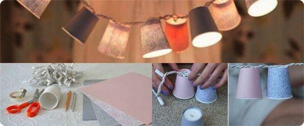 Askartele näyttävät paperivalaisimet uudenvuodenhippoihin. Katso vaihe vaiheelta -ohjeistus täältä: http://totallyloveit.com/diy-decorative-paper-cups-lights/ Älä jätä lamppuja palamaan vartioimatta.