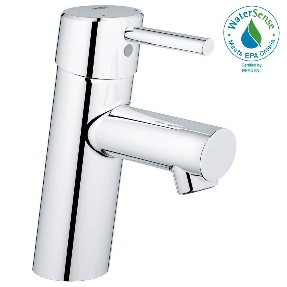 Photo of Grohe Concetto S-Size Bathroom Faucet with Fixed Spout (StarLight Chrome), Gray