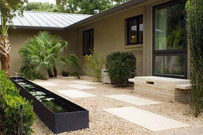 Outdoor small modern ponds garden inspiration for Contemporary pond design