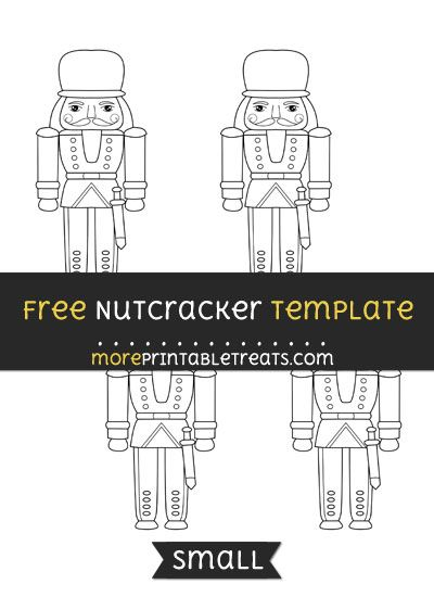 Free Nutcracker Template - Small | Shapes and Templates Printables ...
