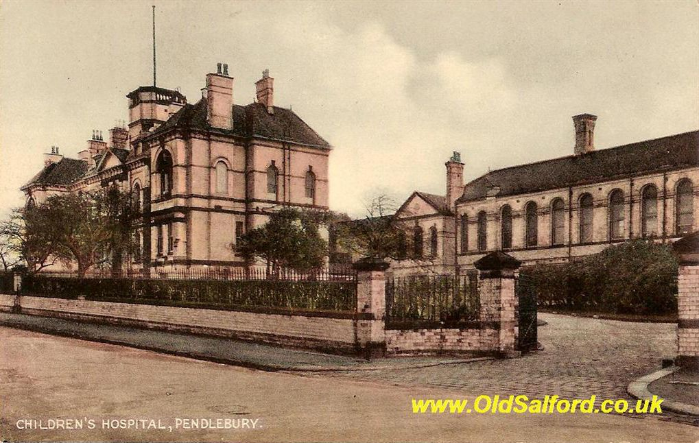 Pendlebury Childrens' Hospital, Salford (now Greater Manchester).  The doctors here in 1946 saved my life when septicemia set in after a complex surgical procedure.  I was about one year old.
