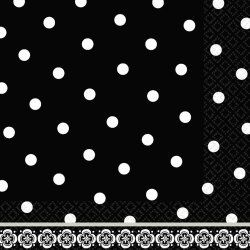 LN MD CT DAMASK & DOTS N/A Napkins (36 per package)