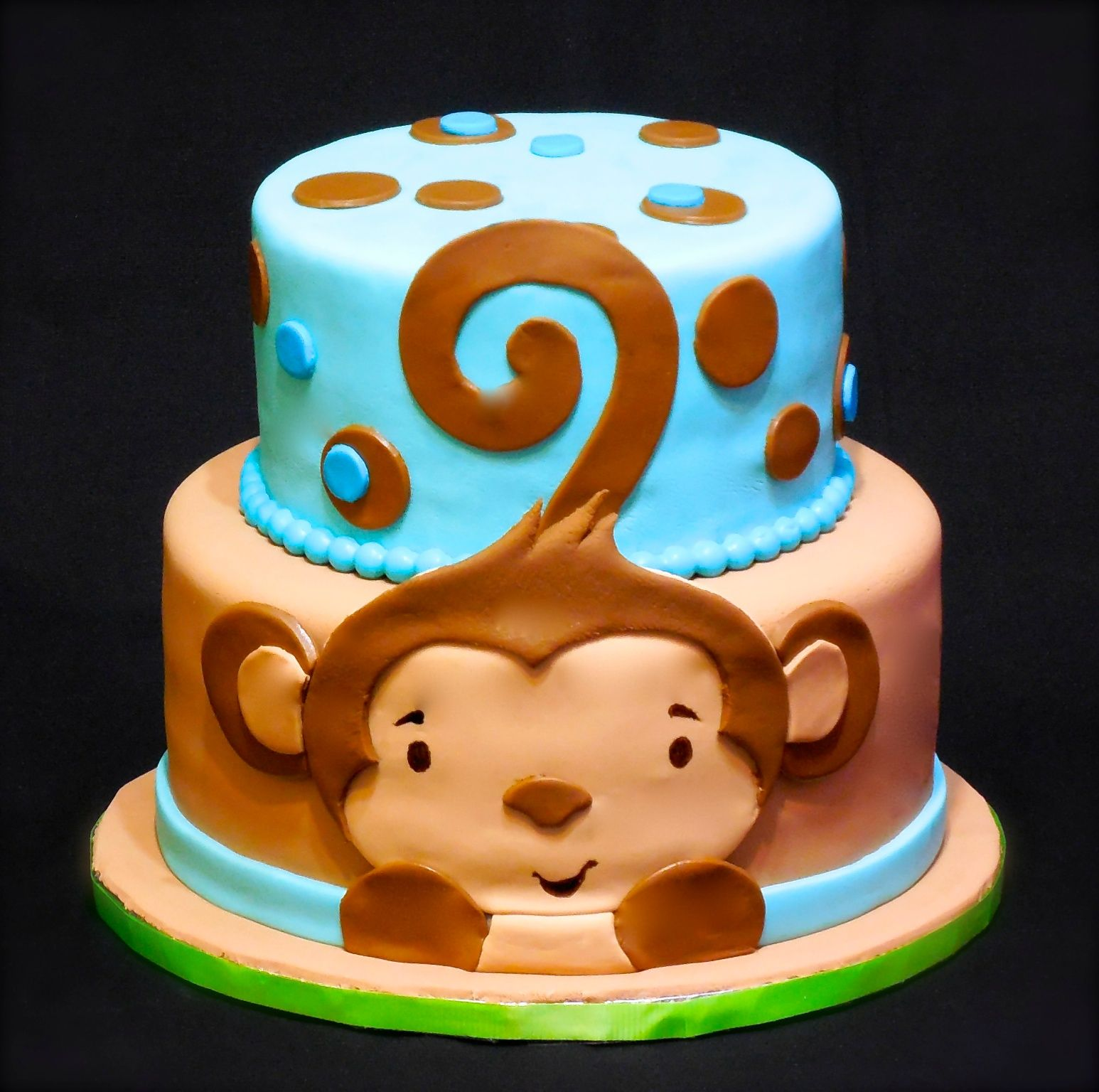 Boys Baby Shower Cake: Monkey Boy Baby Shower Cake