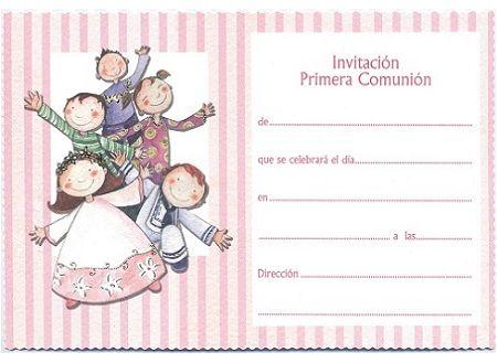 Invitaciones comunion originales gratis buscar con - Como hacer tarjetas para comunion ...